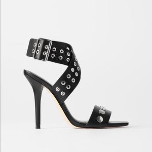 Studded heeled rock sandals